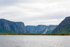 Wejście Zachodniego strumyka Gros Morne Stawowy park narodowy, wodołaz fotografia royalty free