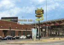 Wejście znak Głęboki Ellum, Dallas, Teksas Obraz Royalty Free