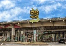 Wejście znak Głęboki Ellum, Dallas, Teksas Zdjęcie Stock