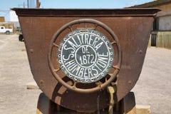 Wejście znak opustoszały miasto widmo Humberstone zdjęcie royalty free