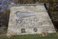 Wejście znak przy Joggins Skamieniałymi falezami, nowa Scotia, Kanada Obrazy Royalty Free