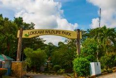 wejście zoo Kot Kinabalu, Malezja obrazy royalty free