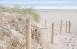 Wejściowa bariera plaża Obraz Royalty Free