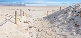 Wejściowa bariera plaża Fotografia Royalty Free