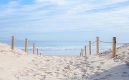 Wejściowa bariera plaża Zdjęcie Stock