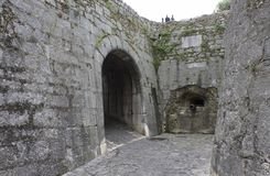Wejściowa brama średniowieczny miasto Saint Paul De Vence fotografia stock