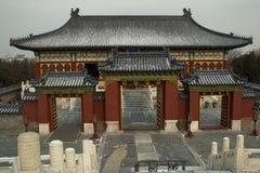 Wejściowa brama świątynia w świątyni Niebiański kompleks zdjęcie stock