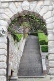 Wejściowa brama kasztel Udine, Włochy obrazy stock