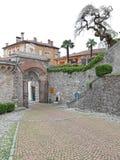 Wejściowa brama kasztel Udine, Włochy zdjęcia royalty free