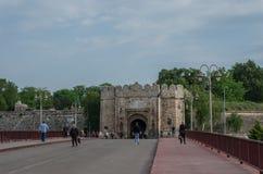 Wejściowa brama Nis forteca jest fortecą w mieście NiÅ ¡, fotografia royalty free