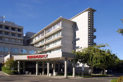 wejściowa nagły wypadek sala szpitalna obraz stock