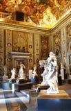 Wejściowa sala Borghese galeria w Rzym, Włochy fotografia royalty free