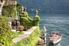 Wejściowa willa Balbianello, Como jezioro, Włochy Obraz Stock