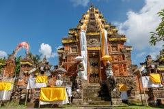 Wejściowe bramy Hinduska świątynia, Buruan, Bali, Indonezja obrazy royalty free