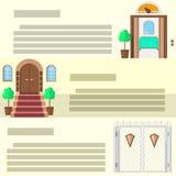 Wejściowe płaskie ikony Obraz Royalty Free