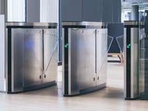 Wejściowy brama dostępu dotyka technologii system bezpieczeństwa zdjęcie royalty free