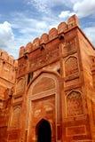 Wejście Agra fort, India Obrazy Stock