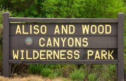 Wejście Aliso I Drewniany jaru pustkowia park zdjęcia stock