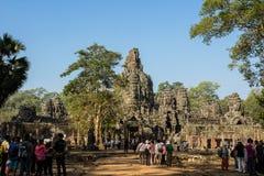 Wejście Angkor Thom Zdjęcia Stock