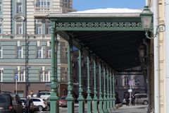 Wejście Bolshoy teatru budynek w Moskwa Zdjęcie Royalty Free