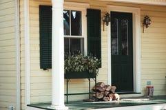 wejście do domu Zdjęcia Royalty Free