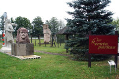 Wejście Gruto park, Lithuania Zdjęcie Stock