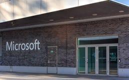 Wejście Microsoft szwajcaria AG biuro Obrazy Stock