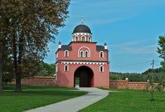 Wejście monaster Krusedol, Serbia Zdjęcie Stock