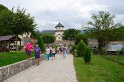 Wejście monaster Moraca, Montenegro Obraz Royalty Free