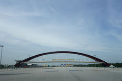 Wejście 2nd Penang Bridg Obraz Royalty Free