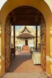 Wejście Pha Który Luang stupa w Vientiane, Laos Zdjęcia Stock