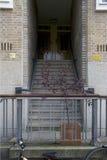 Wejście poprzedni dom Anne Frank przy Merwedeplein Zdjęcia Royalty Free