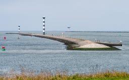 Wejście port Rotterdam w holandiach zdjęcie stock