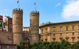 Wejście Porta Soprana w genui Obraz Royalty Free