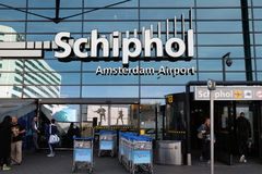Wejście Schiphol lotnisko Obraz Royalty Free
