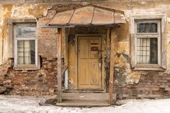 Wejście stary zaniechany dom Fotografia Royalty Free