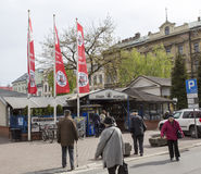 Wejście targowy Stary Kleparz w Krakow, Polska Zdjęcie Stock