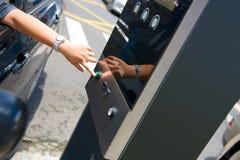 Wejście w elecrtonic parking systemu obraz stock