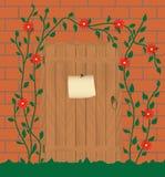 wejście zaniechany dom royalty ilustracja