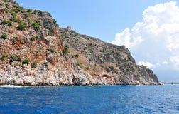 Wejście zatoka Alanya Alanya forteca Zdjęcia Royalty Free