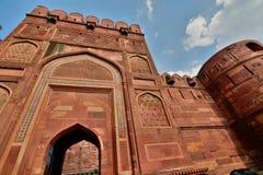 Wejściowa brama Agra Fort Agra, Uttar Pradesh indu Obraz Royalty Free