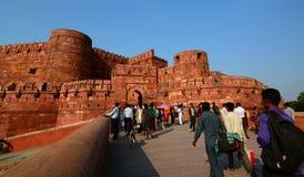 Wejściowa brama, Agra fort Agra, Uttar Pradesh indu Fotografia Stock