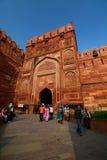 Wejściowa brama, Agra fort Agra, Uttar Pradesh indu Fotografia Royalty Free