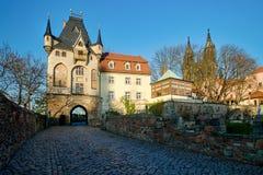 Wejściowa brama Albrechtsburg w Meissen Zdjęcia Stock