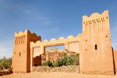 Wejściowa brama forteca Ait Ben Haddou Zdjęcie Royalty Free