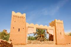 Wejściowa brama forteca Ait Ben Haddou Fotografia Royalty Free