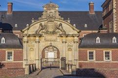 Wejściowa brama podwórze grodowy Ahaus Fotografia Royalty Free