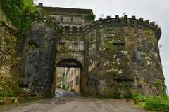 Wejściowa brama vezelay, France Fotografia Royalty Free