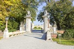Wejściowa brama, Wilanow, Polska Obraz Stock