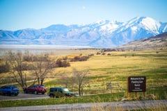 Wej?ciowa droga i?? antylopy wyspy stanu park, Utah obraz stock